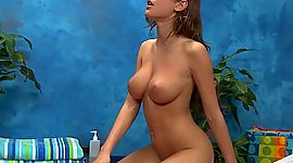 Sassy babe with perky tits riding on a..