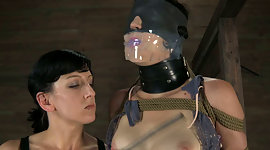 Chick in cover is punished by kinky..