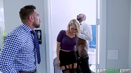 Sex-starved blond Zoey Monroe seduces..