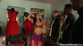 Black males fuck sexy belly dancer..