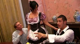 Maid in sexy uniform Tammie Lee gets..
