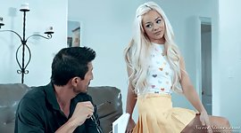 Lovely babysitter Elsa Jean gets hands..