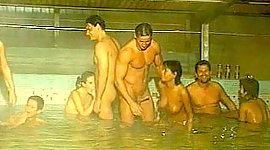5 on 5 orgy in the Pool. Fisting...