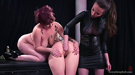 3 insatiable lezbo maidens have a fun..