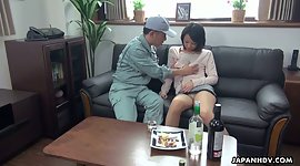 Asian mistress Asuka seduces one cable..