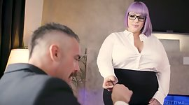 Extreme BBW secretary seduces and..