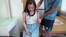 Lovely Asian teen with flat bra..