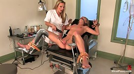 Sapphic sweety gynecologist puts on..