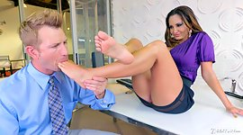 Dallying milf Ava Addams hooks up with..