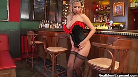 Steamy cabaret dancer gets nude and..
