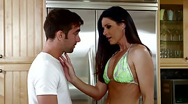 Tall racy brunette MILF lures blessed..