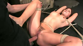 Maria Bellucci is tied up and punished..