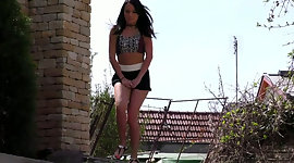 Provocative black haired chick is fond..
