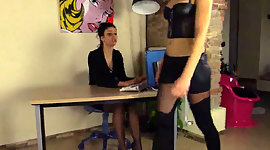 Queer office lassies Tessa and Thena..